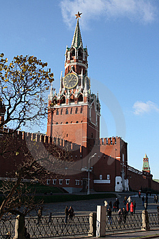 Spasskaya Tower Of Moscow Kremlin Stock Images - Image: 8756474