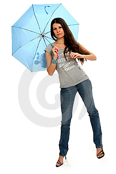Fashion Model With Umbrella Stock Photos - Image: 8756653