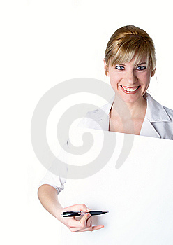 Portrait Of The Young Beautiful Businesswoman Royalty Free Stock Images - Image: 8757689