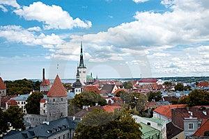 Vista Bird's-eye Del Centro Del `s De Tallinn Fotos de archivo - Imagen: 8757813