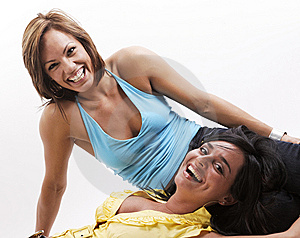 Together Woman Smiling Royalty Free Stock Photography - Image: 8757827
