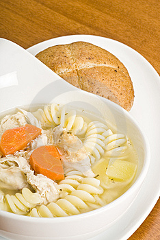 Homemade Chicken Soup With Pasta Royalty Free Stock Images - Image: 8757849