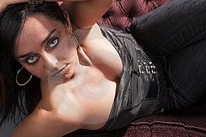 Sexy Sitting Woman Royalty Free Stock Image - Image: 8757966