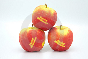 Welcome Apples Royalty Free Stock Photo - Image: 8759855