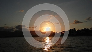Sunset on Koh Samui Island, Thailand. Stock Photos