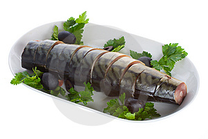 Mackerel With Olives On Plate Royalty Free Stock Photography - Image: 8761007