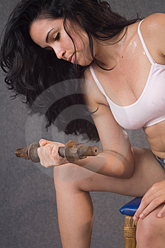 Pretty Young Girl Doing Fitness Royalty Free Stock Images - Image: 8761059