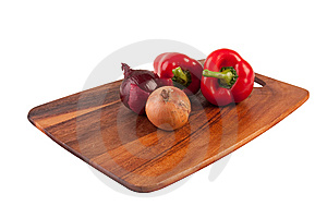 Vegetables And Knife On Cutting Board Stock Photography - Image: 8761342