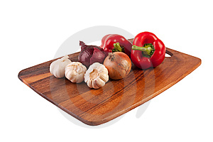 Vegetables On Cutting Board Royalty Free Stock Image - Image: 8761366