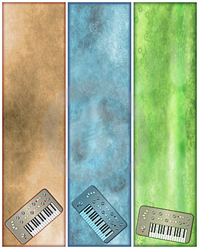 Grungy Vertical Retro Synth Banners Royalty Free Stock Photos - Image: 8762368