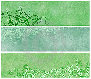 Grassy Grunge Banners Or Headers Royalty Free Stock Images - Image: 8762899