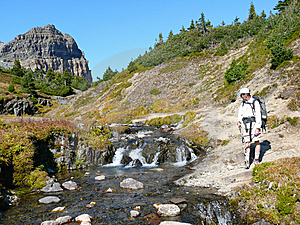 Hiker In The Canadian Rockies Royalty Free Stock Image - Image: 8764006