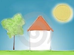 House Of Cotton Sticks Stock Photos - Image: 8765003