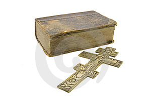 Very Old Vintage Bible And Big Church Cross Stock Photo - Image: 8766560