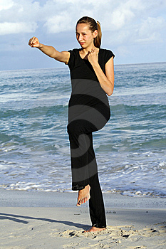Fitness On The Beach Royalty Free Stock Photography - Image: 8767607