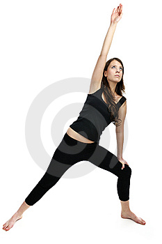 Woman Is Doing An Expert Yoga Exercise Stock Photos - Image: 8767663
