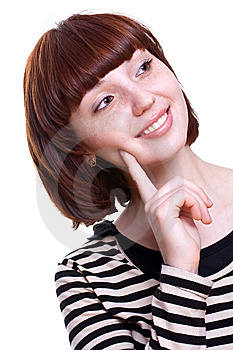 Laughing Girl In A T-shirt Stock Photos - Image: 8768253