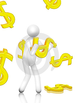 Moneyfalling Royalty Free Stock Images - Image: 8769399