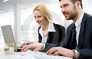 Working people Royalty Free Stock Photo