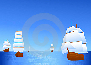 Ship In The Ocean Stock Photography - Image: 8770632