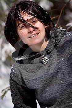 Girl And Snow Stock Image - Image: 8770891