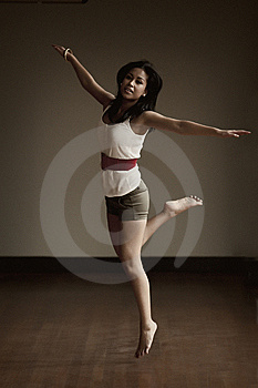 Portrait Of An Indonesian Girl Jumping Royalty Free Stock Images - Image: 8771149