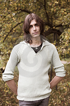 Handsome Young Man During His Walk In A Park Stock Photo - Image: 8776980