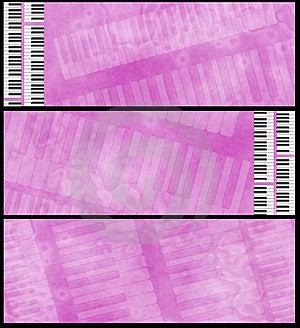 Grunge Pink Fuchsia Musical Headers Stock Photography - Image: 8777872