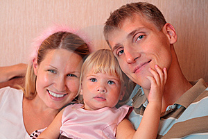 Happy Family With Little Girl Royalty Free Stock Photo - Image: 8778165