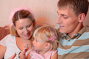 Family With Little Girl Stock Image - Image: 8778671