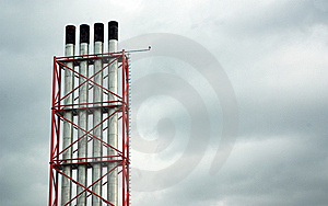 Chimneys To Left Stock Image - Image: 8780771