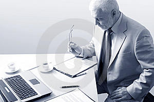 Working Businessman Stock Photo - Image: 8781300