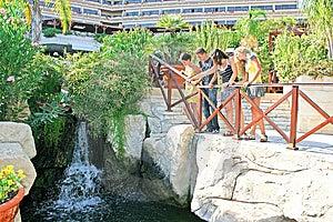 Teens At The Waterfall Stock Photo - Image: 8781370