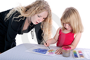 Mom And Daughter Stock Image - Image: 8781761