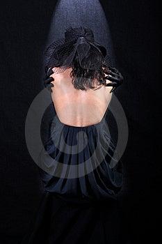 Girl In Hat, Back Side Stock Image - Image: 8783221