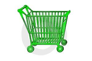 Shopping Cart Green Stock Photo - Image: 8784370