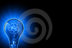 Luminous Ideas For Recycling Royalty Free Stock Photo - Image: 8784575