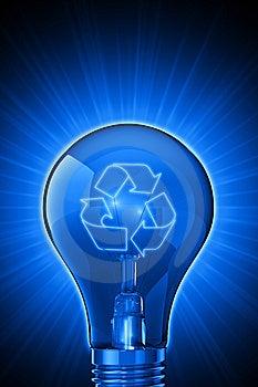 Luminous Ideas For Recycling Stock Photos - Image: 8784593