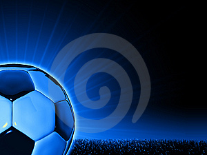 Soccerball With Grass Horizon Line Stock Photography - Image: 8784782