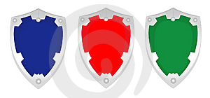 SHIELD SET - VECTOR Royalty Free Stock Images - Image: 8785229
