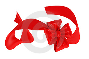Red Ribbon And Bow Royalty Free Stock Photos - Image: 8785318