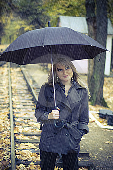 In The Rain Royalty Free Stock Photo - Image: 8785465