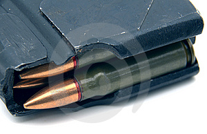 Bullets In Magazine Stock Image - Image: 8785691