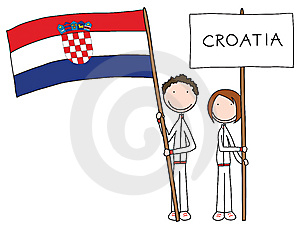 Croatian Flag Royalty Free Stock Images - Image: 8787689