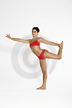 Young Woman In Yoga Position Royalty Free Stock Photos - Image: 8788228
