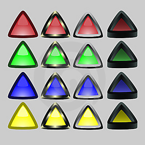 Triangular Buttons With A Board Royalty Free Stock Photos - Image: 8788538