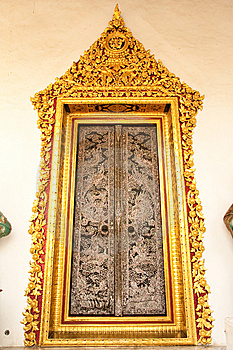Traditional Thai Art Door Stock Images - Image: 8788994