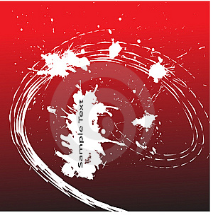Splash Blob On A Red Background. Royalty Free Stock Photography - Image: 8789007