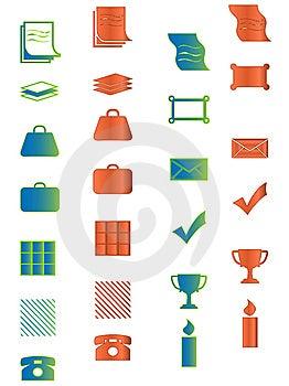 Icono Para El Web, La Oficina, El Asunto Y El Organizador Prese Fotografía de archivo - Imagen: 8791532