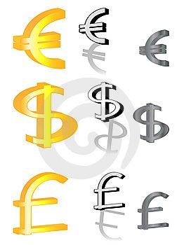 Euro, Libbra E Dollaro Fotografia Stock - Immagine: 8791720